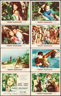 "Movie Posters:Drama, Green Mansions (MGM, 1959). Lobby Card Set of 8 (11"" X 14"") Joseph Smith Artwork. Drama.. ... (Total: 8 Items)"