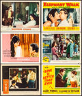 "Movie Posters:Drama, Giant & Other Lot (Warner Bros., 1956). Very Fine-. Lobby Cards (6) (11"" X 14""). Drama.. ... (Total: 6 Items)"