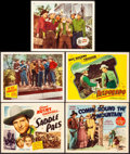 """Movie Posters:Western, Saddle Pals & Other Lot (Republic, 1947). Very Fine-. TitleLobby Cards (2) & Lobby Cards (3) (11"""" X 14""""). Western.. ...(Total: 5 Items)"""