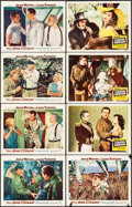 "Movie Posters:War, The Sea Chase & Other Lot (Warner Brothers, 1955). Lobby Cards (8) (11"" X 14""). War.. ... (Total: 8 Items)"