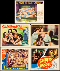 """Sinister Hands & Others Lot (William Steiner, 1932) Very Fine-. Lobby Cards (4) & Title Card (11"""" X..."""