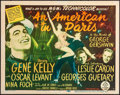 """Movie Posters:Musical, An American in Paris (MGM, 1951). Title Lobby Card (11"""" X 14""""). Musical.. ..."""