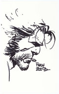 Original Comic Art:Sketches, David Finch - Wolverine Sketch Original Art (2003)....