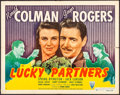 """Movie Posters:Comedy, Lucky Partners (RKO, 1940). Half Sheet (22"""" X 28"""") Style A. Comedy.. ..."""