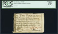Colonial Notes:North Carolina, North Carolina December, 1771 £2 Bird with olive branch PCGS About New 50.. ...