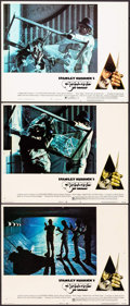 "Movie Posters:Science Fiction, A Clockwork Orange (Warner Brothers, 1971). Lobby Cards (3) (11"" X 14"") 2 X-Rated & 1 R-Rated, Philip Castle Artwork. Scienc... (Total: 3 Items)"
