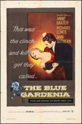 "Movie Posters:Crime, The Blue Gardenia (Warner Brothers, 1953). Folded, Fine/Very Fine.One Sheet (27"" X 41""). Crime.. ..."