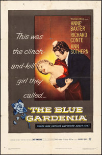 "The Blue Gardenia (Warner Brothers, 1953). Folded, Fine/Very Fine. One Sheet (27"" X 41""). Crime"