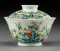 Asian:Chinese, A Fine Chinese Famille Rose Porcelain Season Tea Bowl andCover, Republic Period, circa 1912-1949. Marks to bowl...