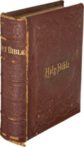 Books:Religion & Theology, [H. P. Lovecraft, association]. The Holy Bible, containing the Old and New Testaments. Philadelphia: A. J. Holman & ...