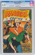Golden Age (1938-1955):War, Rangers Comics #30 (Fiction House, 1946) CGC FN 6.0 Cream tooff-white pages....