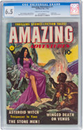 Golden Age (1938-1955):Science Fiction, Amazing Adventures #1 (Ziff-Davis, 1950) CGC FN+ 6.5 Cream tooff-white pages....
