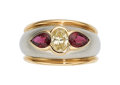 Estate Jewelry:Rings, Colored Diamond, Ruby, Platinum, Gold Ring, Oscar Heyman Bros.. ...