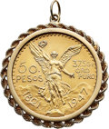 Estate Jewelry:Pendants and Lockets, 50 Pesos Gold Coin, Gold Pendant . ...