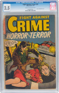 Golden Age (1938-1955):Horror, Fight Against Crime #20 (Story Comics, 1954) CGC GD+ 2.5 Cream to off-white pages....