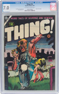Golden Age (1938-1955):Horror, The Thing! #16 (Charlton, 1954) CGC FN/VF 7.0 Off-white to white pages....