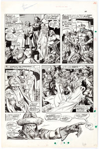 John Buscema and Yong Montano The Savage Sword of Conan #11 Story Page 2 Original Art (Marvel, 1976)