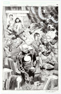 Original Comic Art:Panel Pages, Mike Perkins Marvel Holiday Special #1 Story Page 11Original Art (Marvel, 2006)....