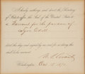 Autographs:U.S. Presidents, Ulysses S. Grant Affix the Seal Document Signed ...