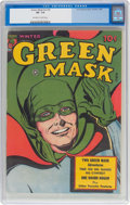 Golden Age (1938-1955):Superhero, Green Mask V2#4 (Fox Features Syndicate, 1945) CGC VF- 7.5 Off-white to white pages....