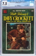 Golden Age (1938-1955):Miscellaneous, Dell Giant Comics: Davy Crockett, King of the Wild Frontier #1 (Dell, 1955) CGC VF- 7.5 Off-white to white pages....