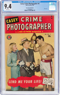 Casey-Crime Photographer #4 Mile High Pedigree (Marvel, 1950) CGC NM 9.4 White pages