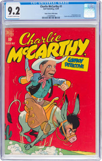 Charlie McCarthy #1 Mile High Pedigree (Dell, 1949) CGC NM- 9.2 Off-white to white pages