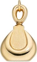 Estate Jewelry:Pendants and Lockets, Gold Perfume Bottle-Pendant, Van Cleef & Arpels, French. ...