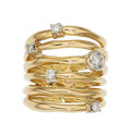 Estate Jewelry:Rings, Diamond, Gold Ring, Vanessa The ring features ...
