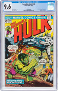 Bronze Age (1970-1979):Superhero, The Incredible Hulk #180 (Marvel, 1974) CGC NM+ 9.6 Off-white towhite pages....