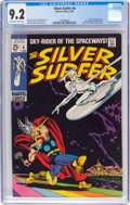 Silver Age (1956-1969):Superhero, The Silver Surfer #4 (Marvel, 1969) CGC NM- 9.2 Off-white to white pages....
