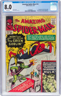 Silver Age (1956-1969):Superhero, The Amazing Spider-Man #14 (Marvel, 1964) CGC VF 8.0 Whitepages....