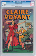 Golden Age (1938-1955):Crime, Claire Voyant #2 (Pentagon, 1946) CGC FN/VF 7.0 Off-white to white pages....