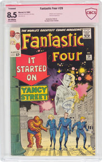 Fantastic Four #29 Verified Signature Series - Trimmed (Marvel, 1964) CBCS Apparent VF+ 8.5 Off-white pages