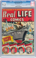 Golden Age (1938-1955):Non-Fiction, Real Life Comics #14 Mile High Pedigree (Nedor Publications, 1943)CGC NM- 9.2 Off-white to white pages....