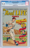 """Golden Age (1938-1955):Miscellaneous, Real Life Comics #49 Davis Crippen (""""D"""" Copy) Pedigree (Nedor Publications, 1949) CGC NM- 9.2 Off-white to white pages...."""
