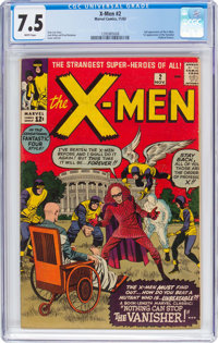 X-Men #2 (Marvel, 1963) CGC VF- 7.5 White pages