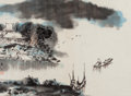 Paintings, Various Chinese Artists (20th Century). Traditional Paintings and Calligraphy (six works). Ink and color on paper. 13-1/... (Total: 6 Items)