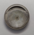 Asian:Chinese, A Chinese Carved She Inkstone, Song Dynasty or later. 7/8 incheshigh x 4-3/8 inches diameter (2.2 x 11.1 cm).