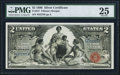 Large Size:Silver Certificates, Fr. 247 $2 1896 Silver Certificate PMG Very Fine 25.. ...