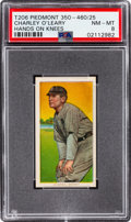 Baseball Cards:Singles (Pre-1930), 1909-11 T206 Piedmont 350-460/25 Charley O'Leary (Hands on Knees) PSA NM-MT 8 - None Higher! ...