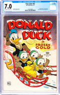 Golden Age (1938-1955):Cartoon Character, Four Color #62 Donald Duck (Dell, 1945) CGC FN/VF 7.0 Off-white to white pages....