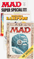Magazines:Mad, MAD/National Lampoon Group of 7 (EC, 1955-73) Condition: AverageVF.... (Total: 7 Comic Books)