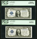 Small Size:Silver Certificates, Fr. 1602 $1 1928B Silver Certificates. Pleasing Group of 13 Different Blocks All PCGS Graded.. ... (Total: 13 notes)