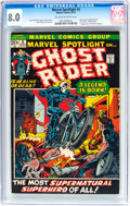 Bronze Age (1970-1979):Superhero, Marvel Spotlight #5 Ghost Rider (Marvel, 1972) CGC VF 8.0 Off-whiteto white pages....