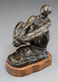 Auguste Rodin (French, 1840-1917) Homme assis, étude B, conceived in 1895; this version cast in 1963