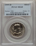 Susan B. Anthony Dollars, 1999-D $1 Anthony MS68 PCGS. PCGS Population: (120/0). ...