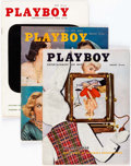 Magazines:Miscellaneous, Playboy Group of 47 (HMH Publishing, 1956-59) Condition: Average VG/FN.... (Total: 47 Illustration Art)