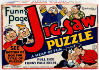 Gold Medal Funny Pages Jig-Saw Puzzle Series 1 - The Captain and the Kids - Incomplete (United Features Syndicate/Transo...