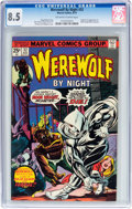 Bronze Age (1970-1979):Horror, Werewolf by Night #32 (Marvel, 1975) CGC VF+ 8.5 Off-white to whitepages....
